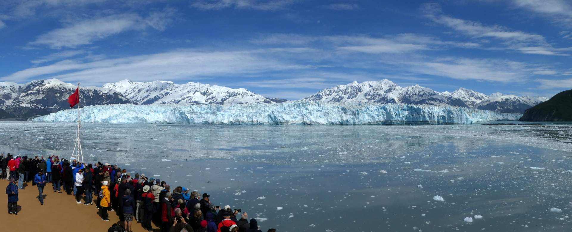 Hubbard glacier from the Cunnard Queen Elizabeth © P Curtis 2019