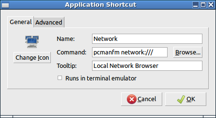 Application Shortcut
